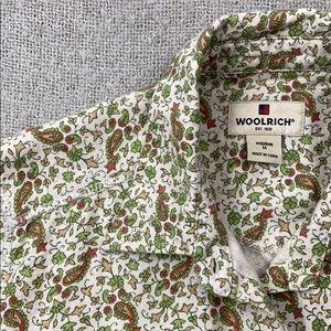 Woolrich paisley flannel button down blouse